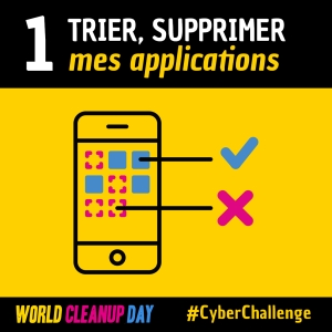CyberCleanUp 1. Trier, Supprimer mes applications